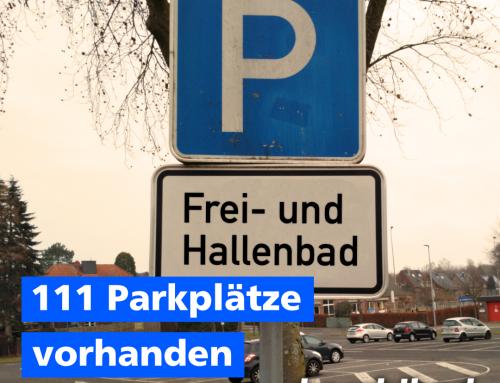 111 Parkplätze vorhanden