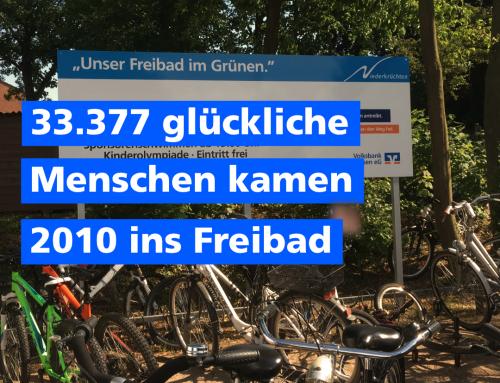 33.377 glückliche Menschen kamen 2010 unser Freibad