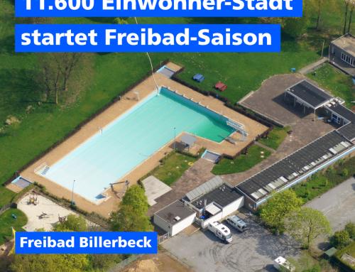 11.600 Einwohner Stadt startet Freibad Saison